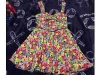 Stunning 50's vintage style summer dress & cut out back size 12