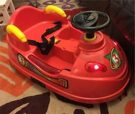 Indoor Outdoor Toddler Electric Bumper Car Full Lights rrp £149.