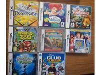 Nintendo DS games bundle 8 games