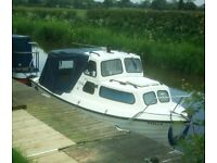 Cabin cruiser, 21ft, outboard Yamaha 25 Autolube pull start,original Gel coat,safety cert until 2020