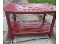 Kids plastic two tier table