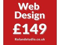 Affordable web design form £149 | eCommerce | SEO | LOGO