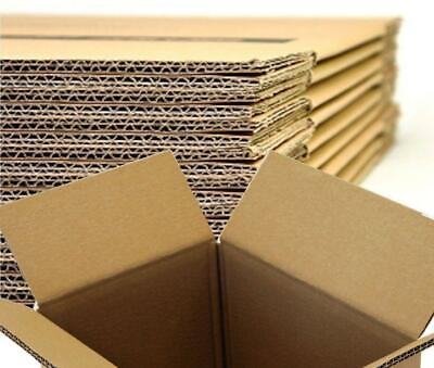 10 Cardboard Moving Boxes Double Walled Flat Packed 58x40x48cm Once Used