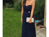 Navy prom dress with sweetheart neckline, UK size 6-8