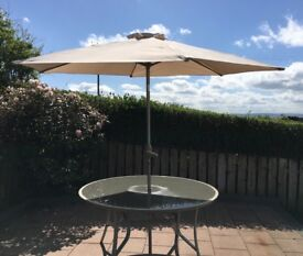 GARDEN PARASOL UMBRELLA super large size GREAT CONDITION rarely used SOLID QUALITY ITEM sunshade