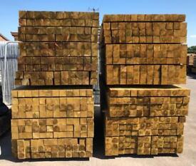"🌲 *New* Pressure Treated Wooden Posts 4""x 4""x 2.4M"