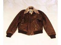 Leather bomber/flying jacket