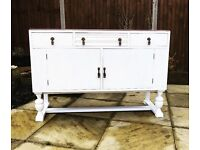 Beautiful White Vintage Dresser / Sideboard