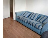 Free blue king size sofa bed for collection only!