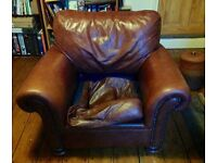 John Lewis Big Leather Armchair (Córdoba model). Exciting project for a DIY enthusiast