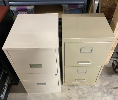 2- 2 Drawer Metal File Cabinets Local Pick-up Only