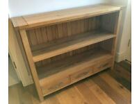 Oak Sideboard / Bookcase / 3 drawer storage