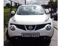 NISSAN JUKE 1.6 TEKNA 5d AUTO 117 BHP AUTOMATIC, CHOICE OF 6! (white) 2014