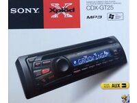 SONY CAR CD RADIO STEREO with FRONT AUX input for IPOD/ PHONE