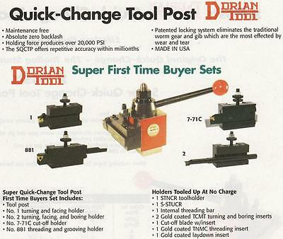 Dorian Quick Change Tool Post Set Ca 16 To 20 New