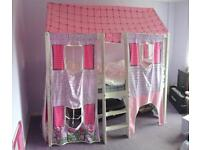 Cabin bed with canopy