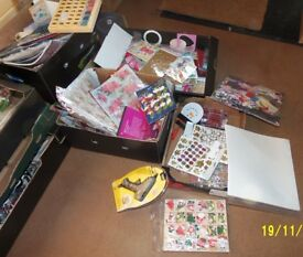 Job Lot Sale of Mixed Craft items for Card Making etc., worth over £3000 plus.