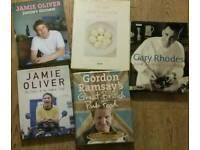 5 Cookbooks - Jamie Oliver , Gordon Ramsey , Delia Smith , Gary Rhodes