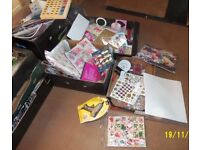 Job Lot Sale of Mixed Craft items for Card Making etc.,worth over £3000 plus.