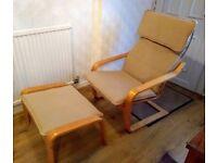 Ikea Rocking Chair & Foot Stool