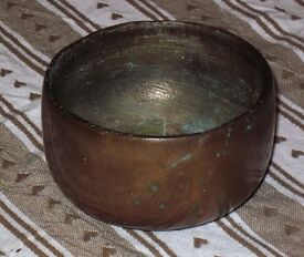 Solid brass Trench Art pot
