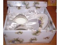 Silver Wedding Cup & Saucer Set The Leonardo Collection 25th Anniversary