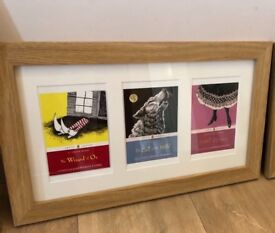 Curated & Framed: Puffin Classic book covers (postcards) in frame