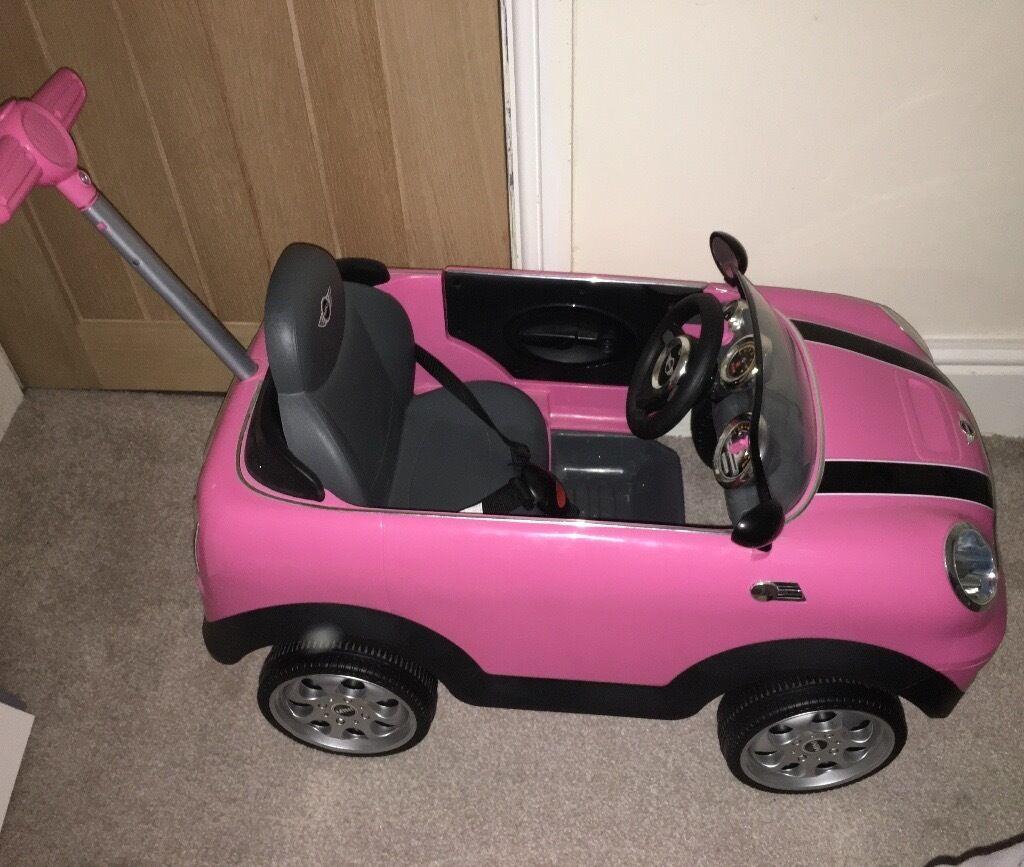 mini cooper push along toddler car pink in wavertree. Black Bedroom Furniture Sets. Home Design Ideas