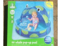 ELC UV whale pop-up pool - brand new in box