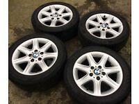 """16"""" Genuine BMW 1 Series F20 F21 Alloy Wheels & Tyres 205/55R16 5x120 Fits 3 Z3 Z4 4 VW T5 Transport"""