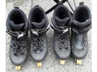 2 pairs of Salomon STS Shock absorber size 4 Inline Skates- £10 and £8 for the pair that need laces.