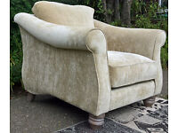 A New Ashley Manor Cream/light Golden Natural Fabric Arm Chair
