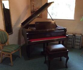 Beautiful Hoffmann Baby Grand Piano & Stool - DELIVERY AVAILABLE