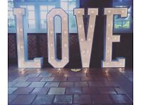 5FT GIANT LIGHT UP WEDDING LETTERS FOR SALE!!!!!