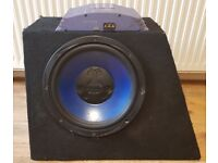 CAR ACTIVE SUBWOOFER FUSION 1000 WATT 12 INCH BASS BOX WITH SONY XPLOD AMPLIFIER SUB WOOFER AMP