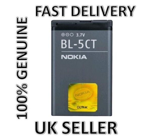 NEW GENUINE BL 5CT BATTERY FOR NOKIA 5220 6303 6303i 6730 C3-01 C5-00 C6-01