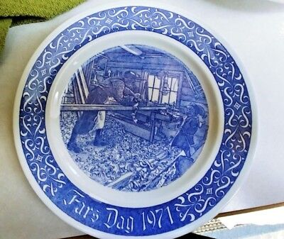 Rorstrand Sweden Father's Day Fars Dag 1971 Plate - 1st Ltd. Ed. - Carl Larsson