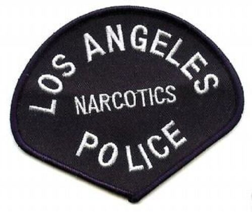LOS ANGELES POLICE LAPD BLACK/WHITE NARCOTICS SHOULDER SLEEVE velkrō INSIGNIA