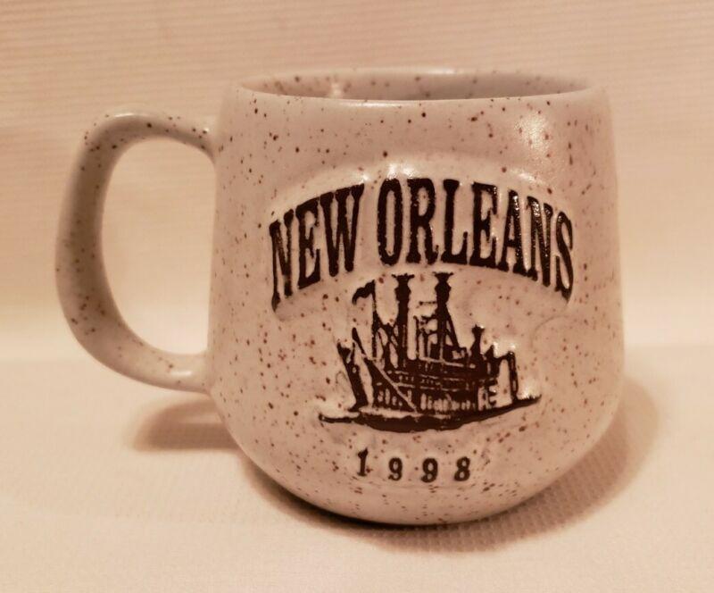 Vintage Souvenir New Orleans 1998 Coffee Mug Advertising Johnson Polymer
