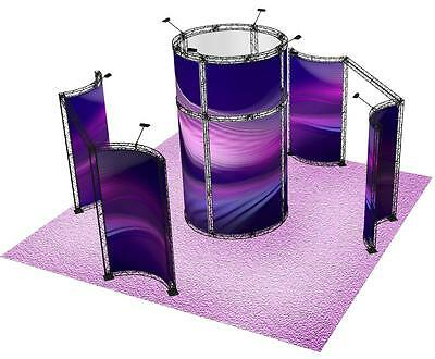 20x20 Crosswire Exhibits Trade Show Display Truss Radius Curved Tower X10 X15