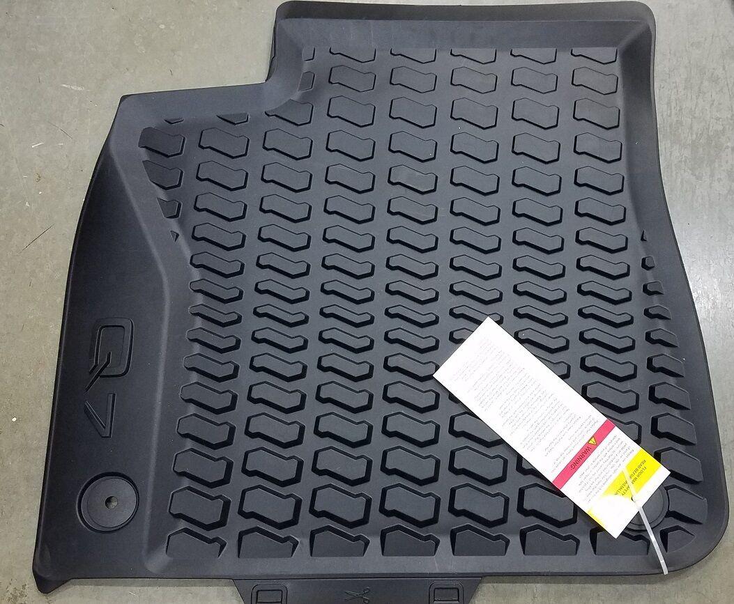Q7 rubber floor mats - 2017 Audi Q7 Factory Oem All Season Rubber Floor Mats Set Of 4 Black 3 Cad 176 50 3 Of 7