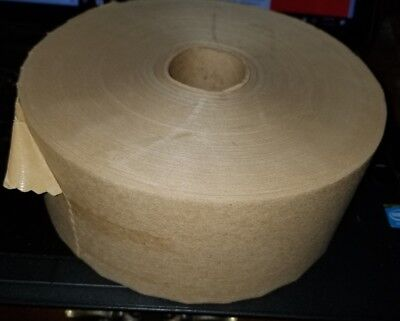 3 X 600 Gummed Paper Water Activated Box Kraft Packaging Tape Art Or Shipping