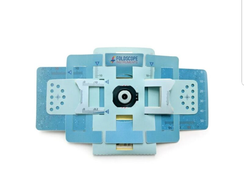 Foldscope Pocket Origami Microscope Kit with Carrying Case