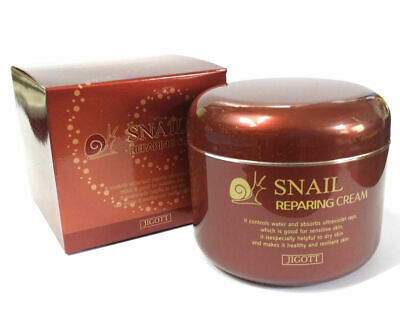 Korea JIGOTT Snail Repairing Cream 100ml + Free Gift K Beauty Cosmetics