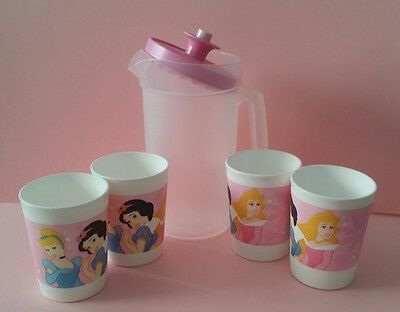 Tupperware Disney Princess Mini Tea Party Play Set Pitcher Tumblers Cups