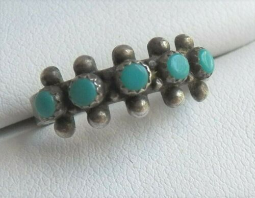 Southwestern Sterling Silver Turquoise Ring  - signed - maybe Tribal