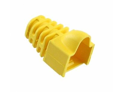 569875-6 Modular Plug Snagless Boot for Category 5E and 5 Plugs, 5.33 mm, yellow