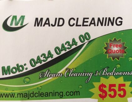 Carpet steam cleaning 3 bedrooms $55!