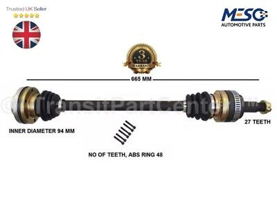 REAR DRIVE SHAFT BMW 1 E87 118 D 2004-2012 RH RIGHT HAND DRIVER OFF SIDE