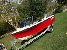 4.3m boat, trailer, Honda 50 Caboolture Caboolture Area Preview